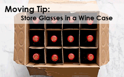 Smart idea for packing glasses
